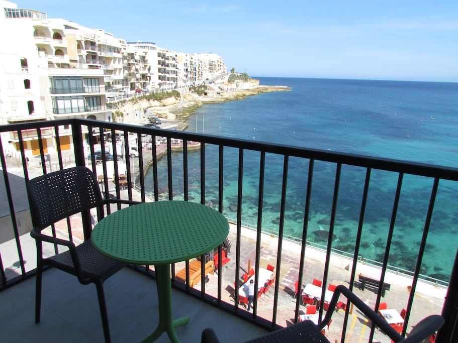 Panoramic Seafront Studio S3 Apartments For Rent In Marsalforn Malta