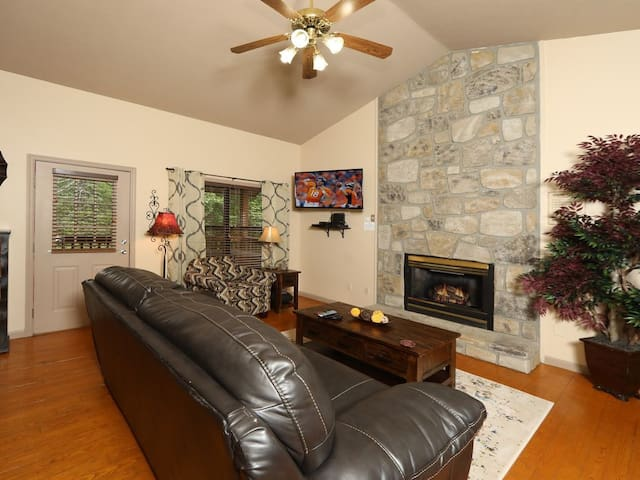 Relax by the fireplace or curl up and watch a movie in the comfy living area. Netflix, Hulu, and DVDs are all available for your entertainment.