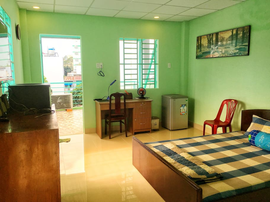 The Top room overlooking terrace with full amenities
