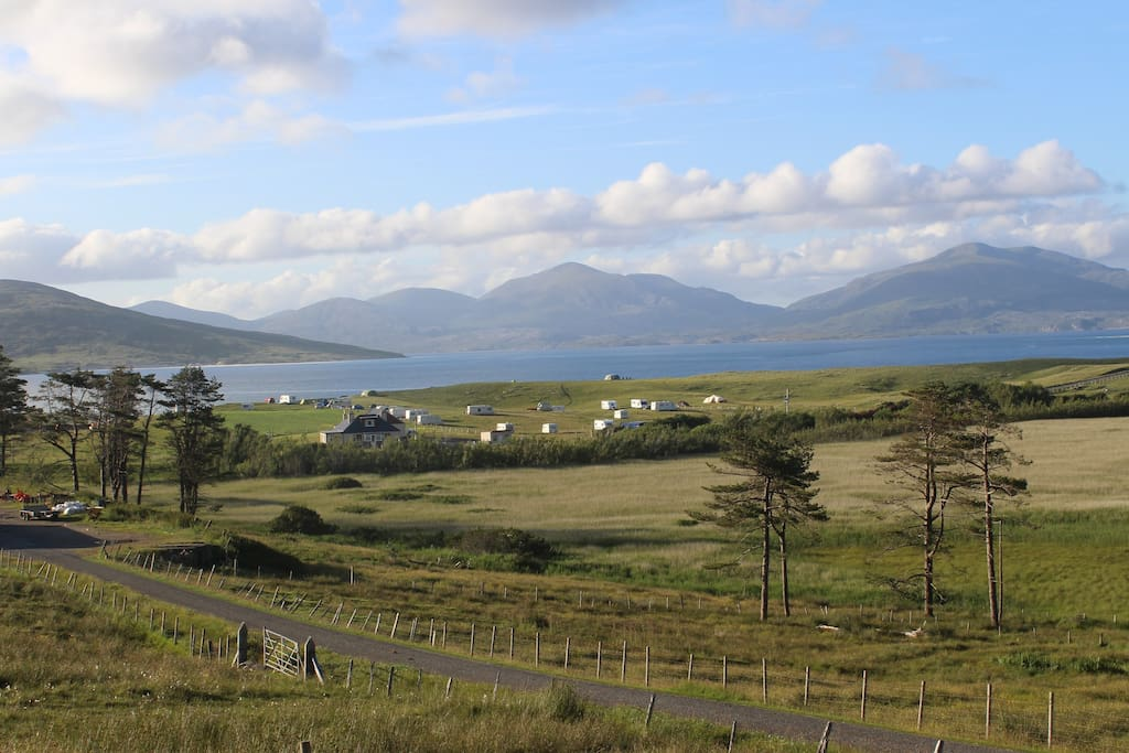 The Croft is surrounded by beautiful land that slopes down to the sea