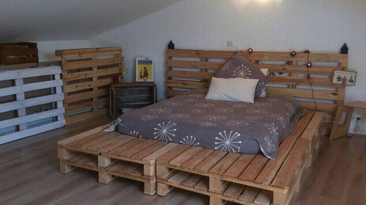 """""""Mon petit cocon"""" Comble aménagé privé, lit double"""