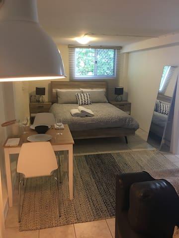 1 large bedroom furnished unit.