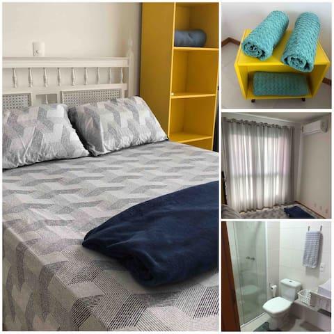 Suite climatizada cama de casal