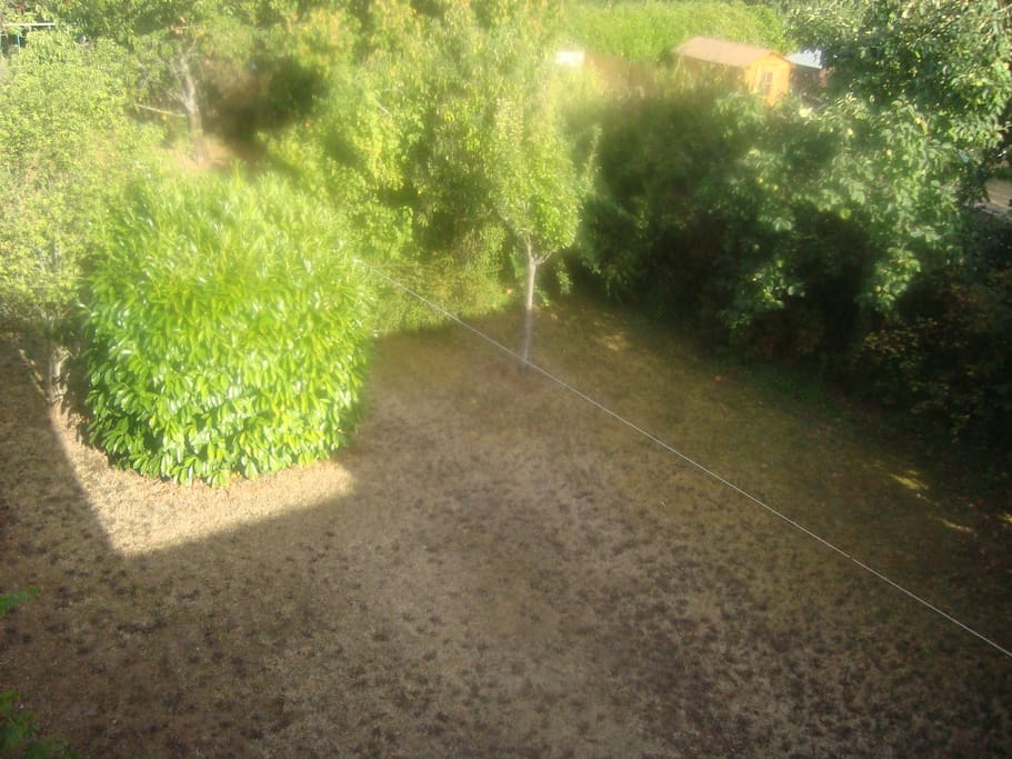 Jardin isolé et calme