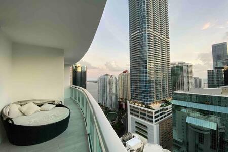 Bedroom in Luxury Miami Condo