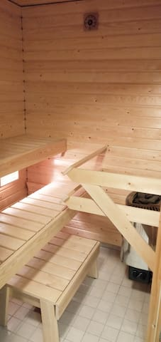Modern apartment with sauna