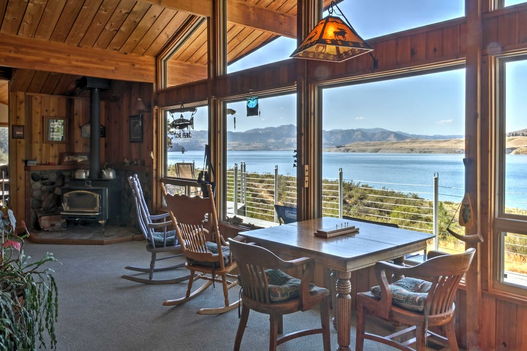 Large windows provide ample natural lighting and fantastic water views.