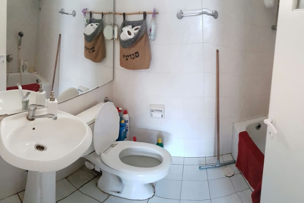 shared shower (+toilets) another toilets are just infront of your room
