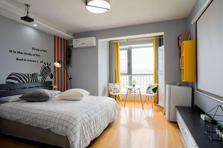小时光 | 河海大学地铁口INS风整套公寓/百寸1080P投影仪可投屏