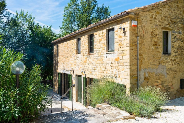 Villa Carina is a converted farmhouse set in about a hectare of gardens, orchard and woods.