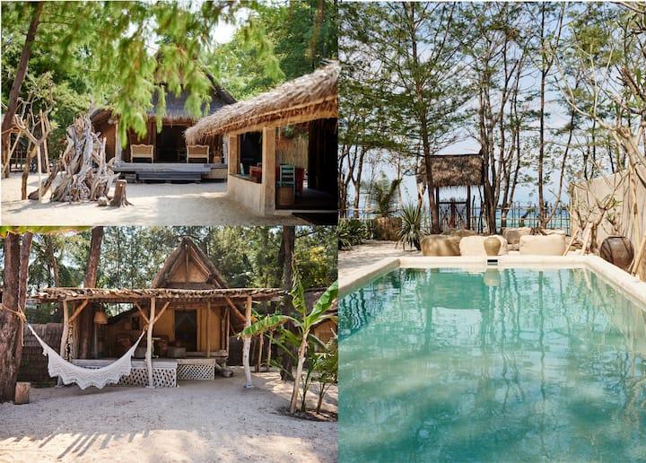 The Robinson&Crusoe Beach Houses (8BR) - Gili Meno