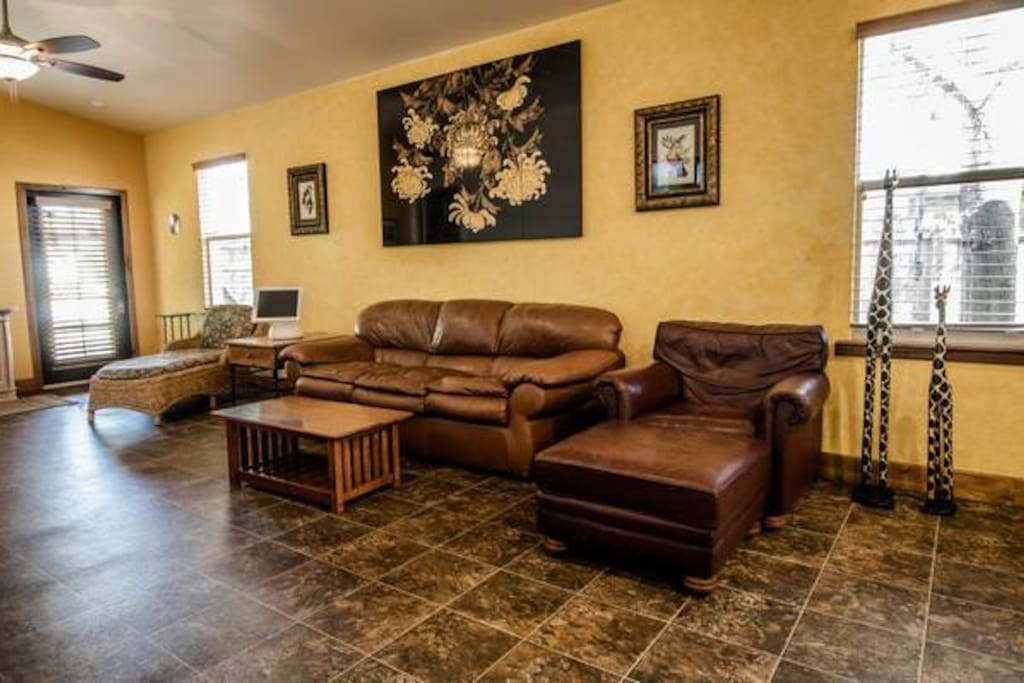 Comfortable Leather Furniture Couch and Lounge