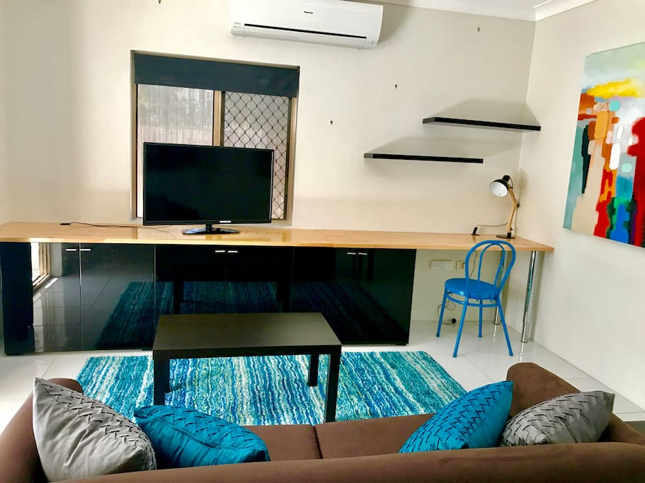 Flat screen TV, free wifi and space to work should you need to bring your laptop.