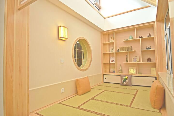 诗屋~人和居   自助民宿整租  日式新中式  家庭度假 · 大学生合住  地暖+中央空调+中央热水