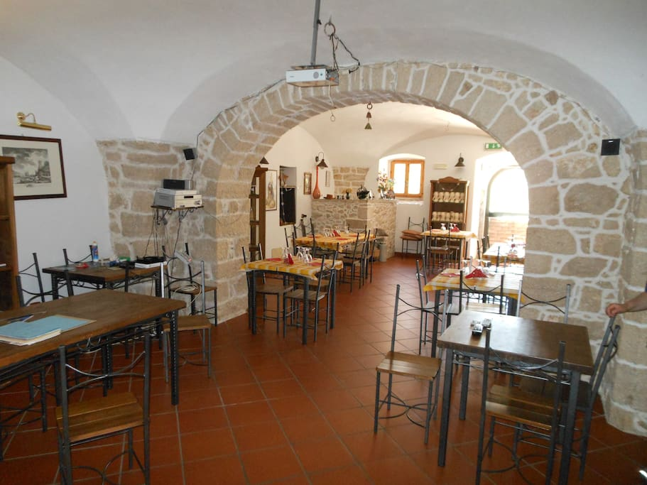 the charming restaurant , a old wine cellar