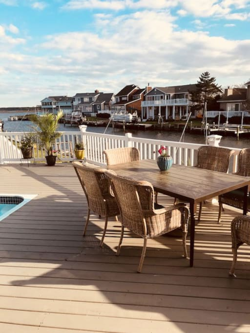 Gorgeous Deck Overlooking Water
