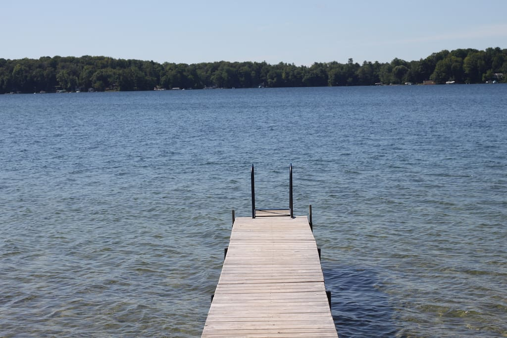 The dock and Long Lake