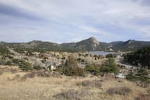 View of Lake Estes from the top of the hill.  Amazing views - pack a lunch and enjoy.