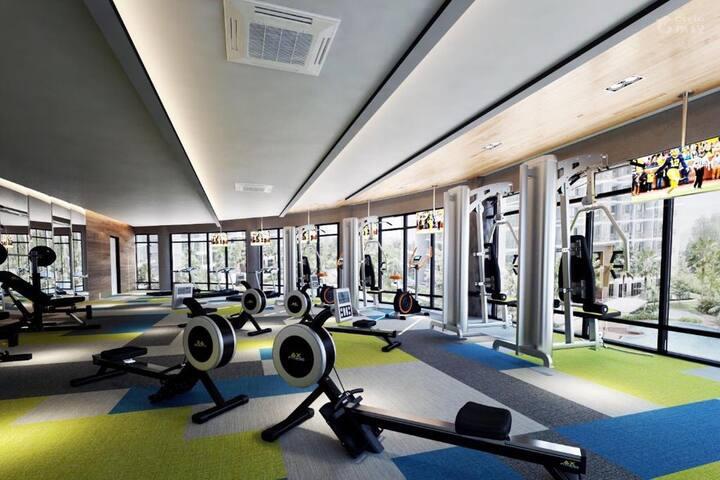 ksl One room獨立房間中帶有獨立廁所,免費Wi-Fi ,免費健身房游泳池,免費停車