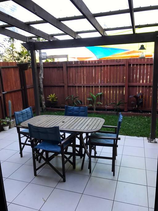 Covered outside area