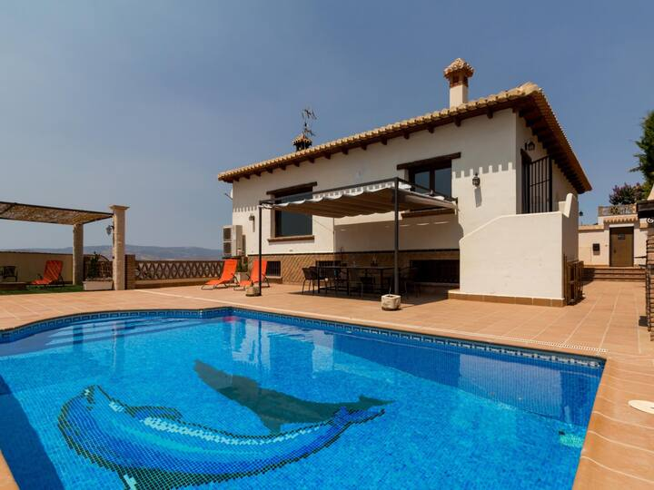 Stunning house with views, pool and terrace