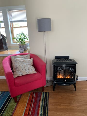 Toasty natural gas fireplace
