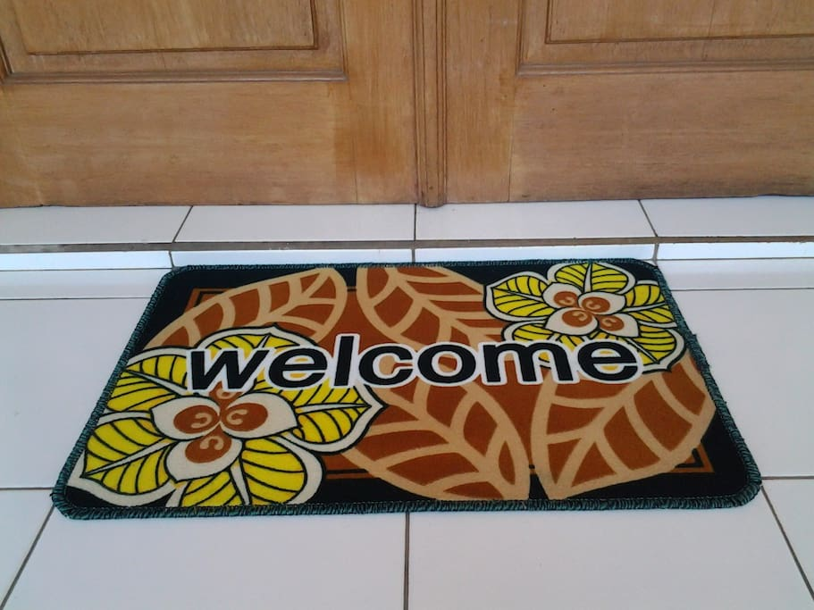 Anaking Homestay welcome carpet