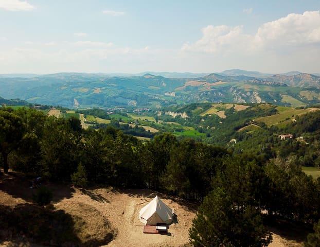 Tenda con Vista Panoramica_ Farm di Canapa!