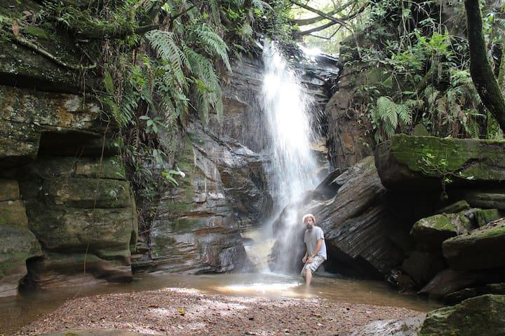 Chalé Morro Velho - cachoeiras particulares - Pirenópolis - Chatka