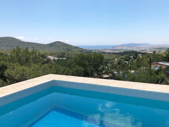 Beautiful house with stunning view over Ibiza