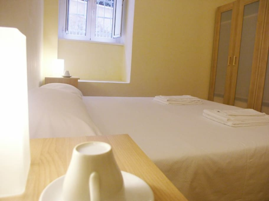 Bedroom 1 - the double bed can be splitted in two single beds