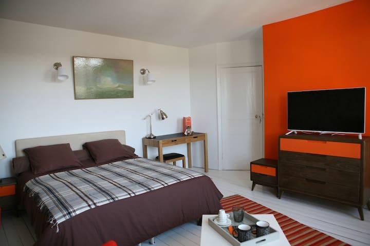 Chambre double Raymond Loewy - Rochefort-en-Yvelines - Bed & Breakfast