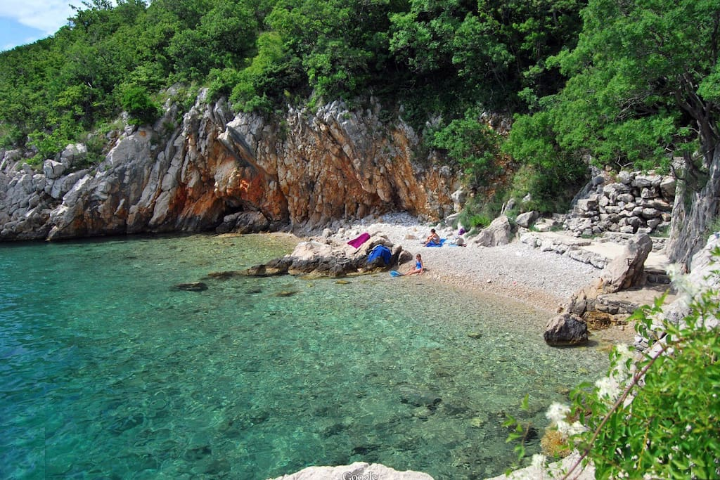 Small, secluded beaches with steep landscape :)