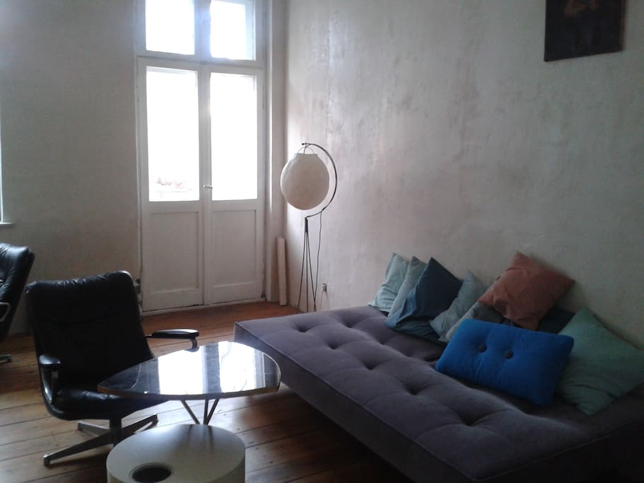 living room with balkony/or use it as 2nd bed room