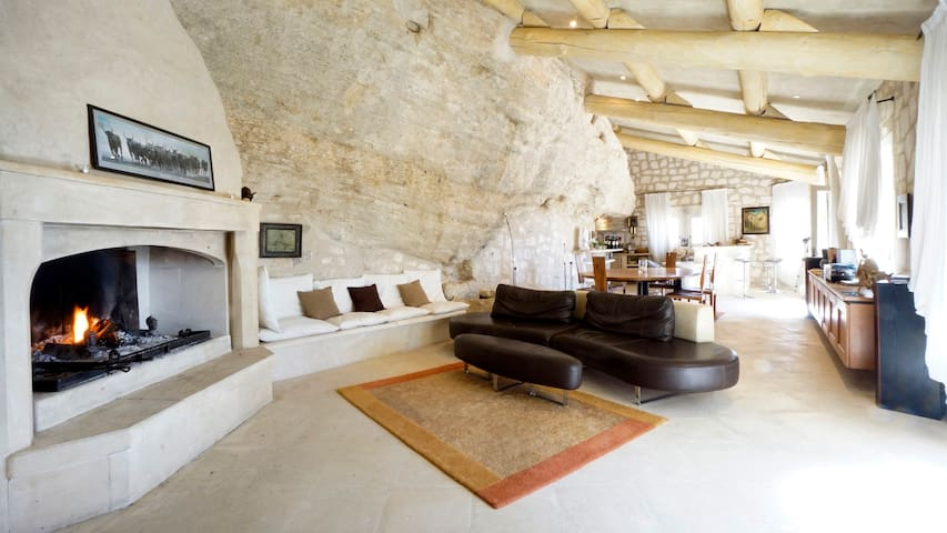 The Villa is incredibly built into stone