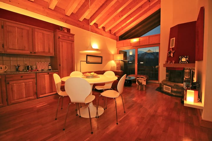 Luxurious Loft & outstanding view - Veysonnaz - Leilighet