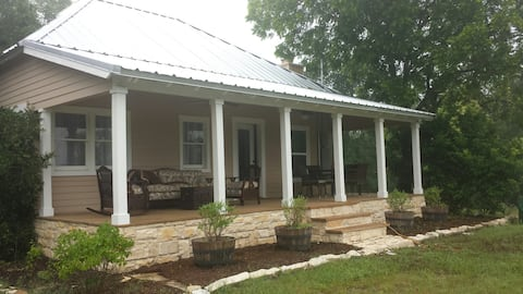 Texas hill country ranch house on Pecan Creek