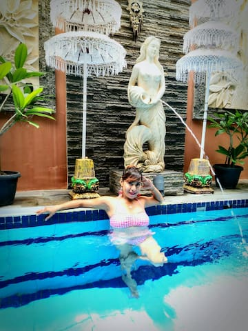 Blue Pool Villa Room. Nusa Dua & Jimbaran Beaches.