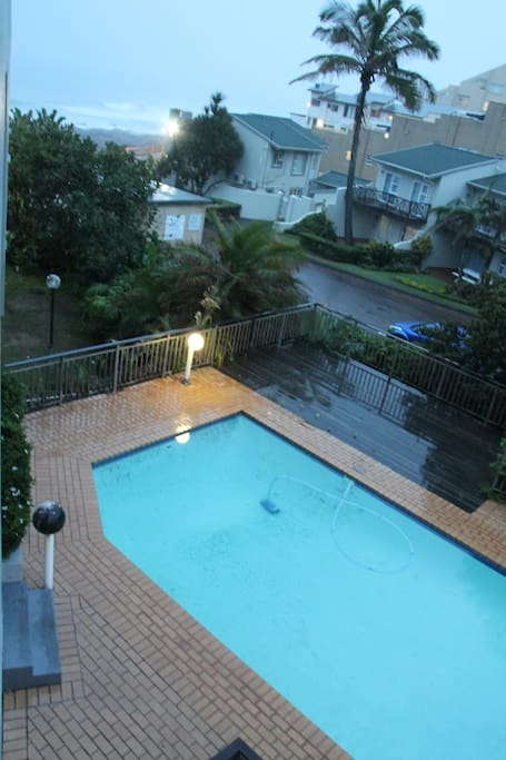 Large pool and deck within the complex...