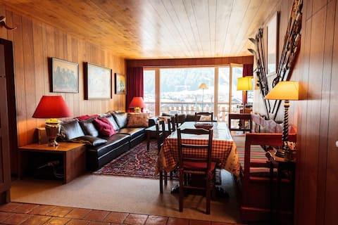 Appartement familial, centre Val d'Isère, vue pano