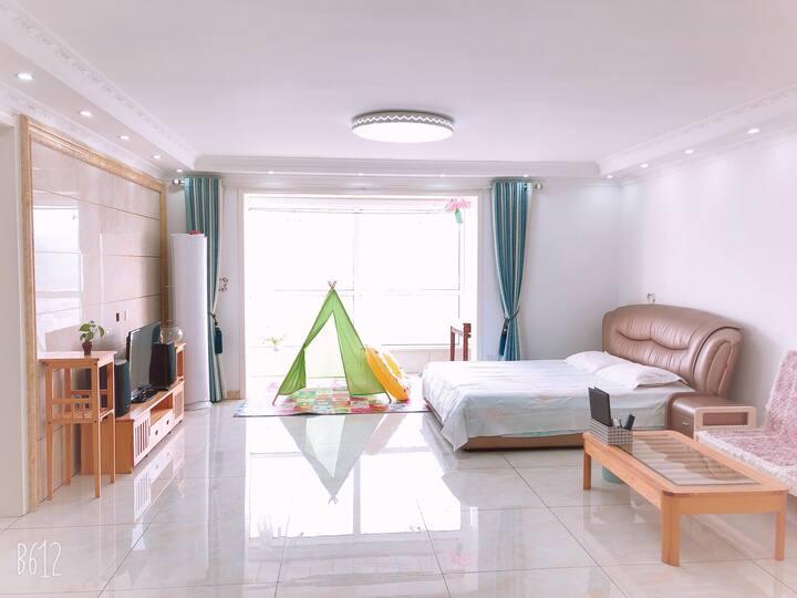 (已消毒)海水沙滩浴场 130平米 仁泰花园 全屋带空调 4#