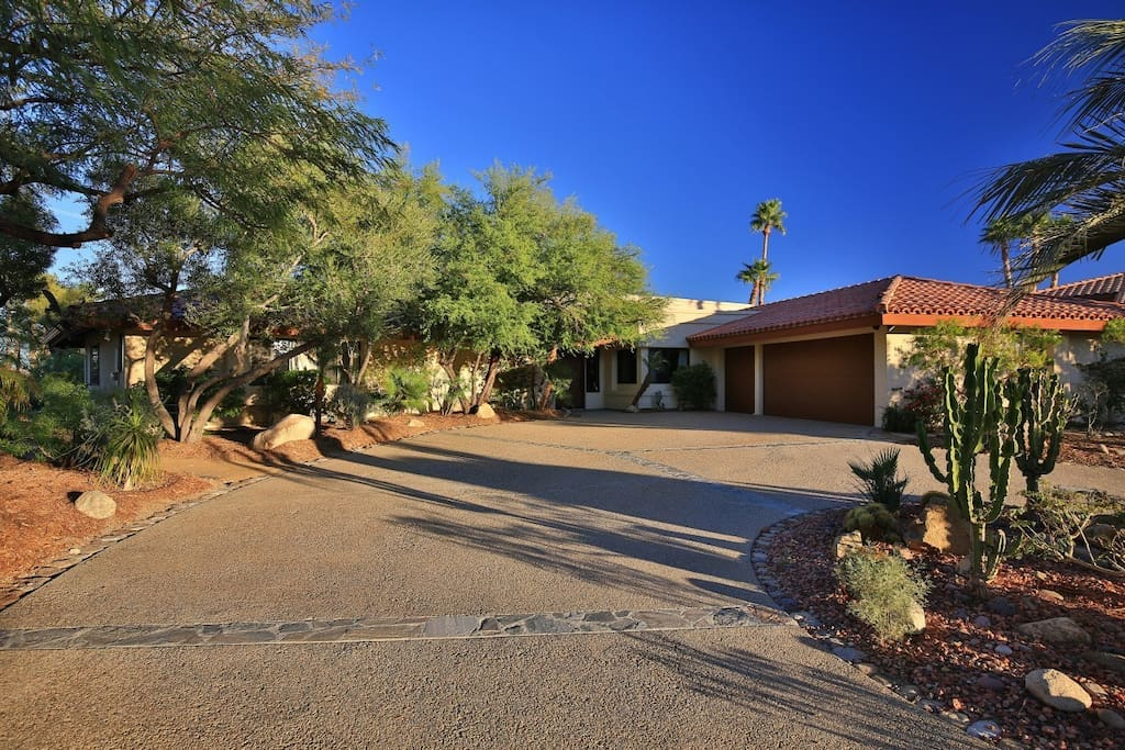 Large Driveway to your desert home