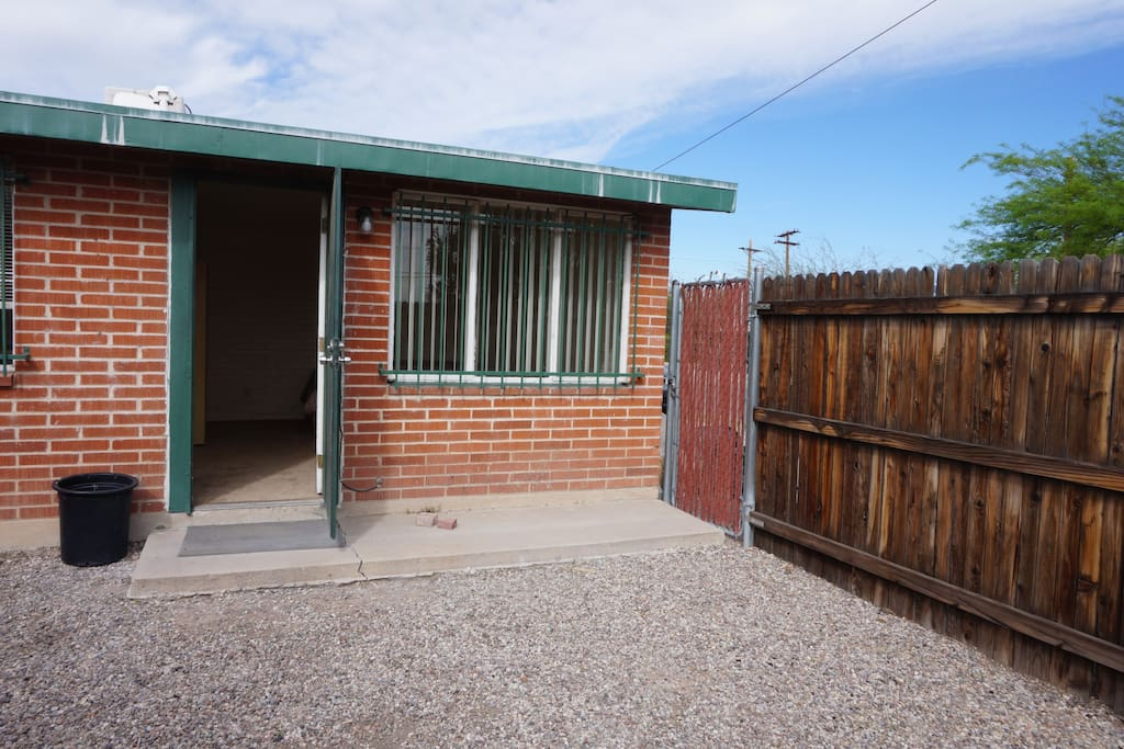 Fenced front and secure entry