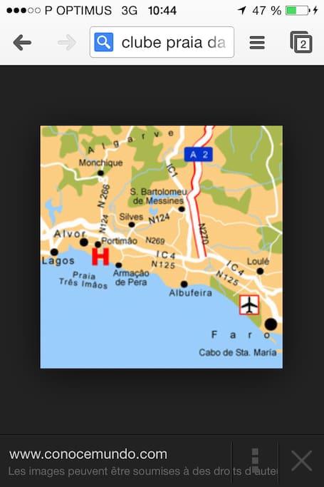 Proximité avec l'aéroport de Faro