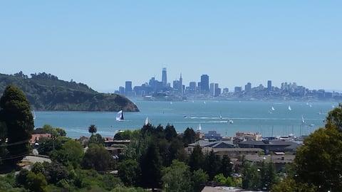 Mid-century modern apt with San Francisco views
