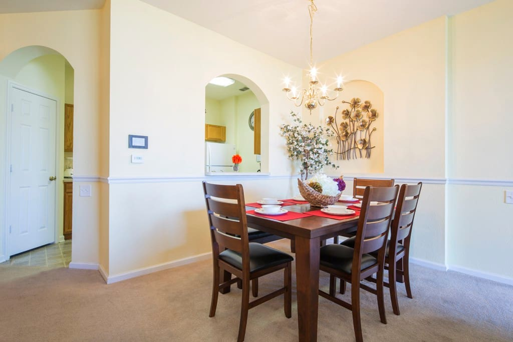 Why spend money dining out every night? This dining suite has bench-style seating and room for the whole family to enjoy a meal together.