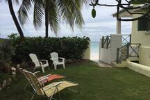 Enclosed garden leading to beach