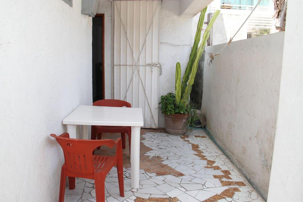 Bonito patio desde la planta baja