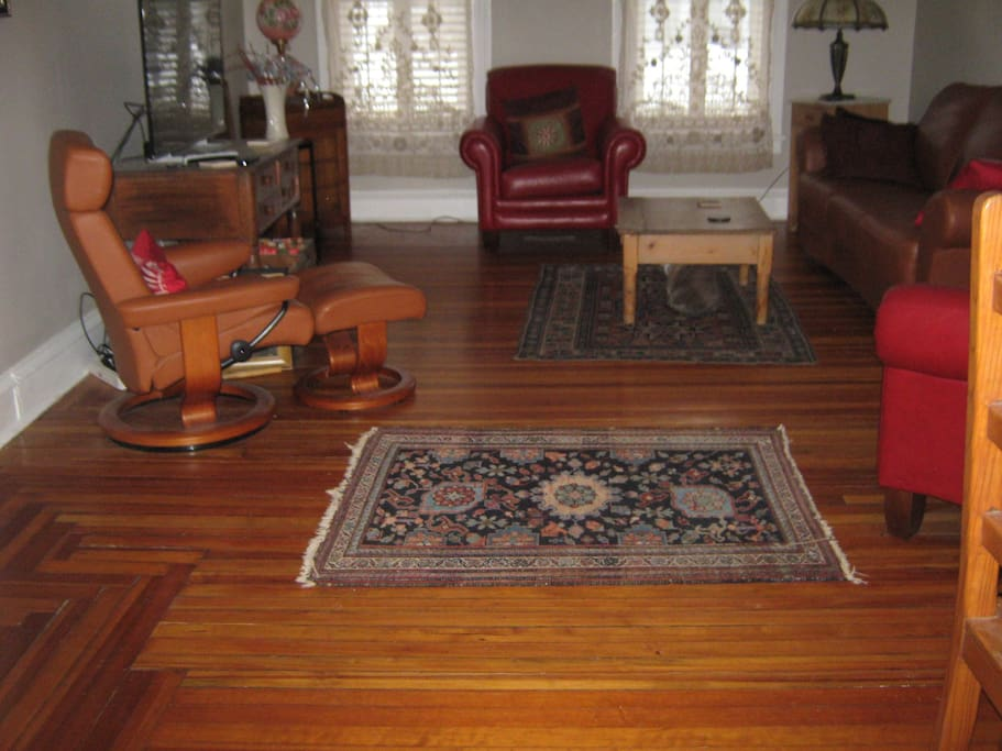 Large  Rooms with Hardwood Floors