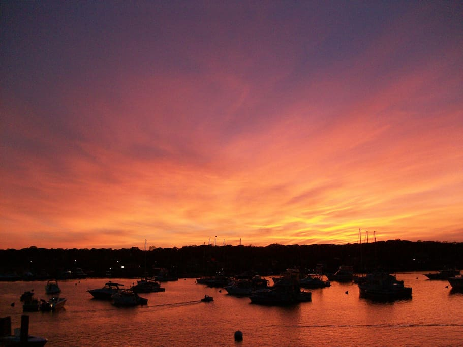 Amazing sunsets on the Oak Bluffs Harbor
